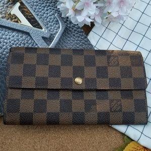 Louis Vuitton Sarah wallet damier ebene